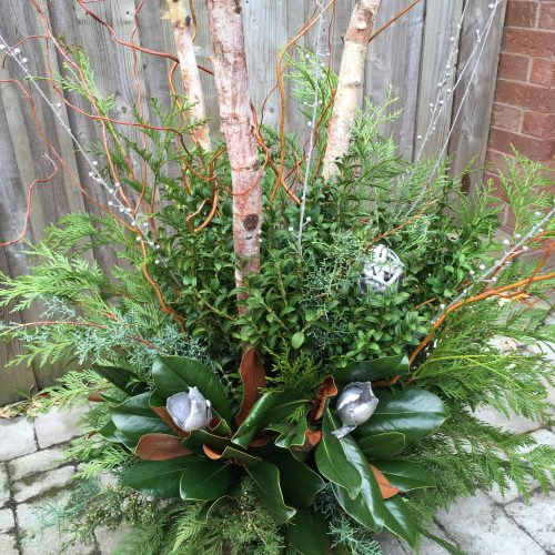 Finished Holiday Planter