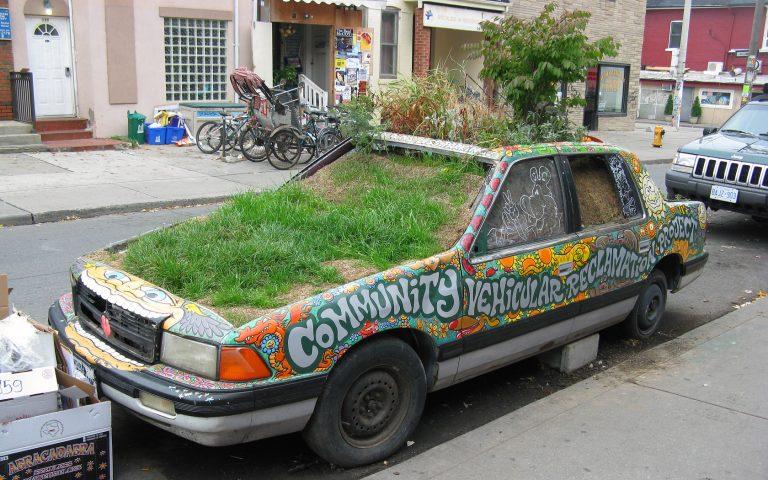 Green Plant Car