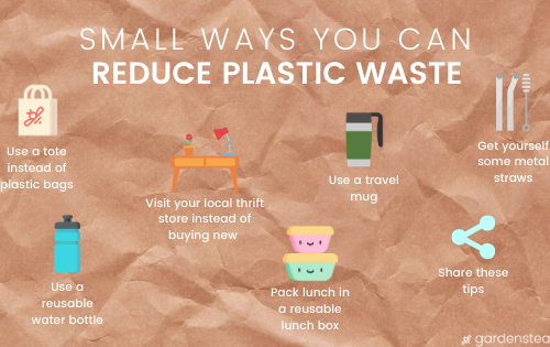 ways you can reduce plastic waste infograph