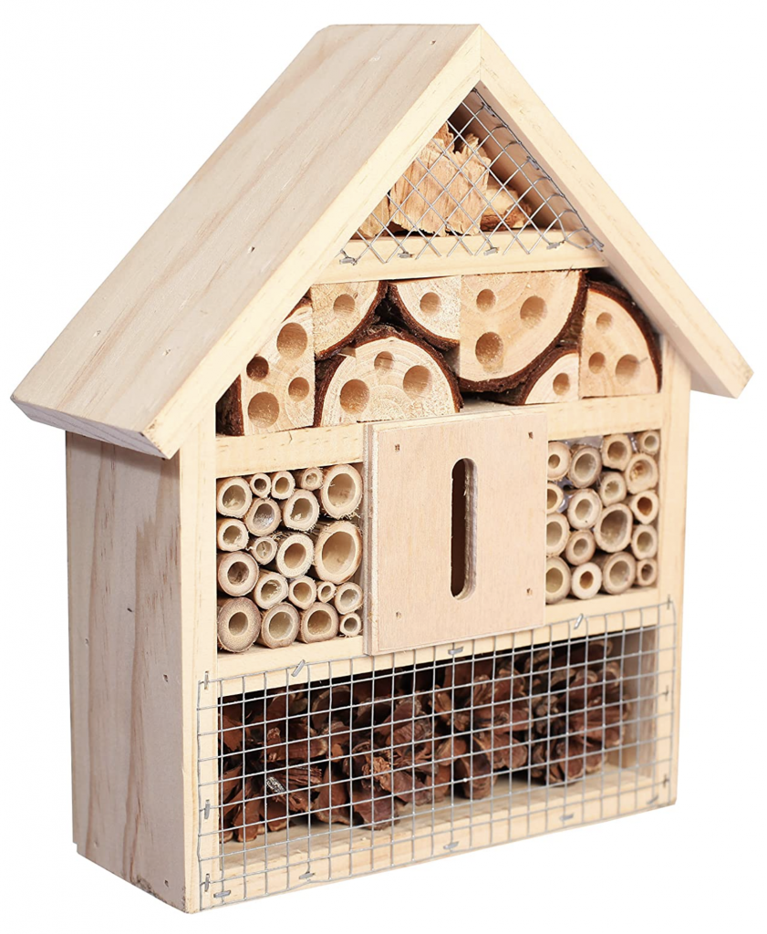 Bee Hotel Insect Hotel Natural Wood Eco Friendly Garden Decor
