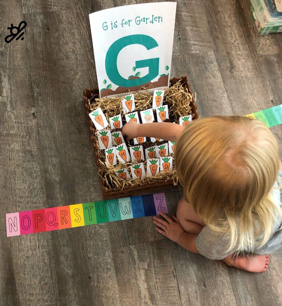 G is for garden alphabet fun