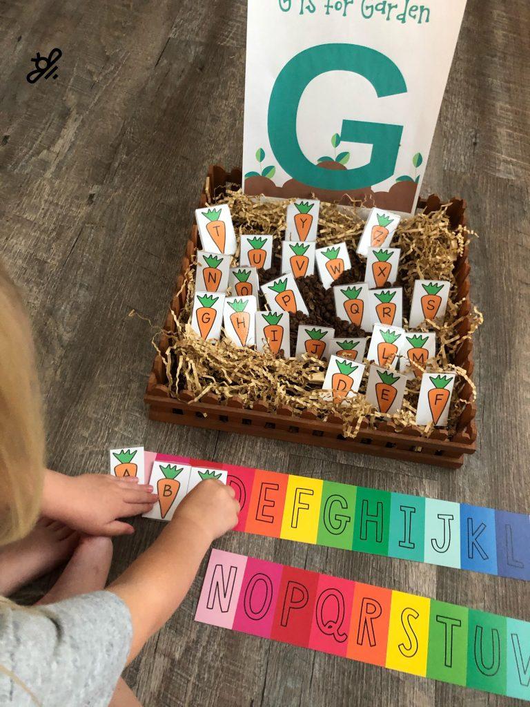 G is for garden alphabet learning