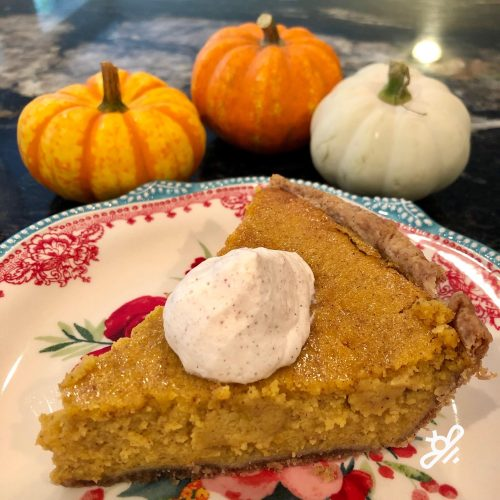 Homemade pumpking pie by Kimber
