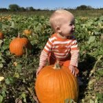 Lilly Ann in the pumpkin patch