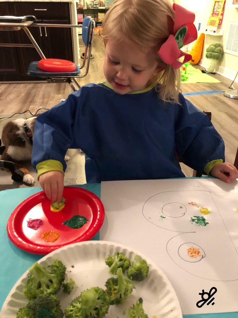 Painting with broccoli