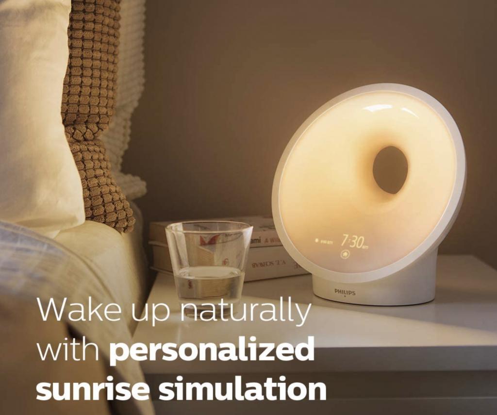 Philips SmartSleep Connected Sleep and Wake-up Light Therapy Lamp Smart Sunrise Sunset Reading Lamp