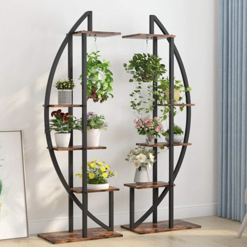 Tribesigns Five Tier Plant Stand and Plant Hanger