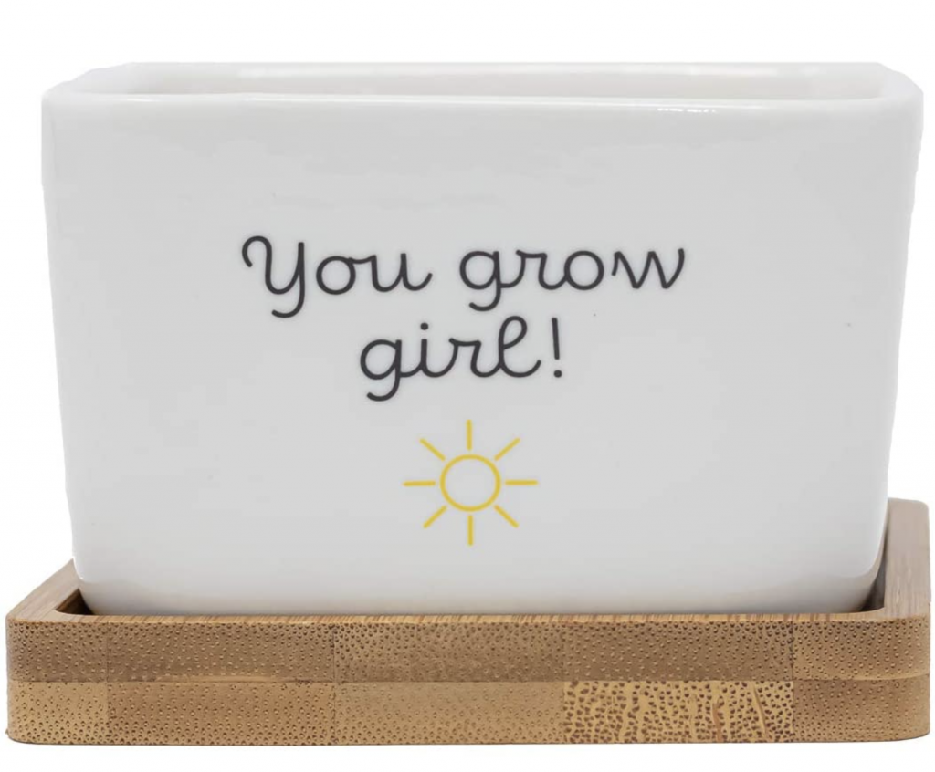 You Grow Girl Succulent Pot with Drainage