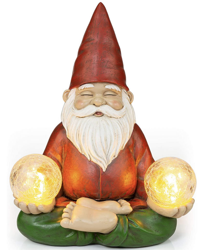 Zen Garden Gnome Solar Lantern Daylight
