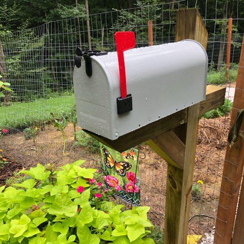 mailbox at the garden