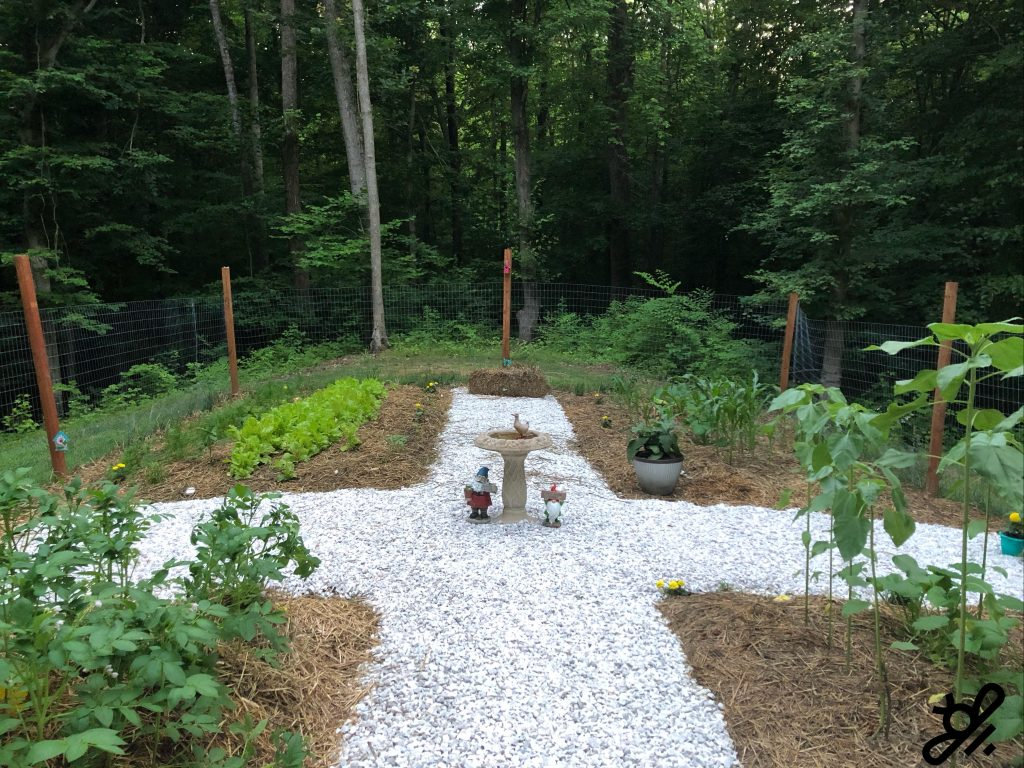 A garden path is laid