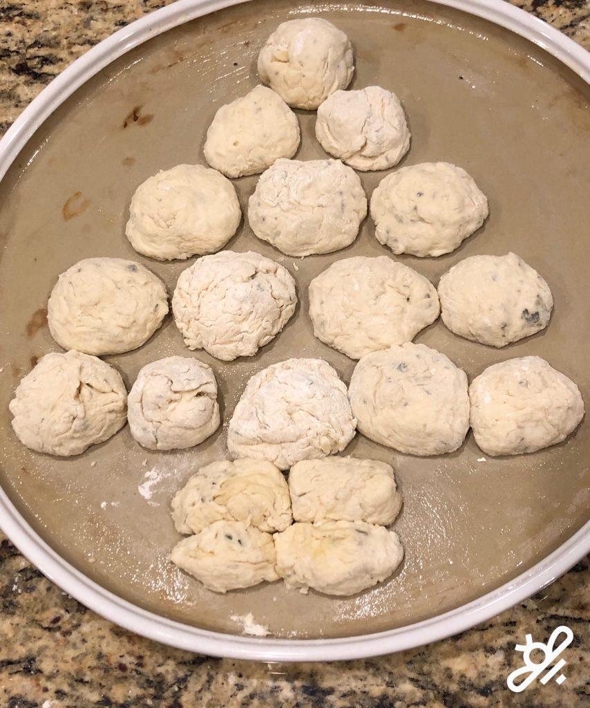 pull apart christmas tree pizza dough