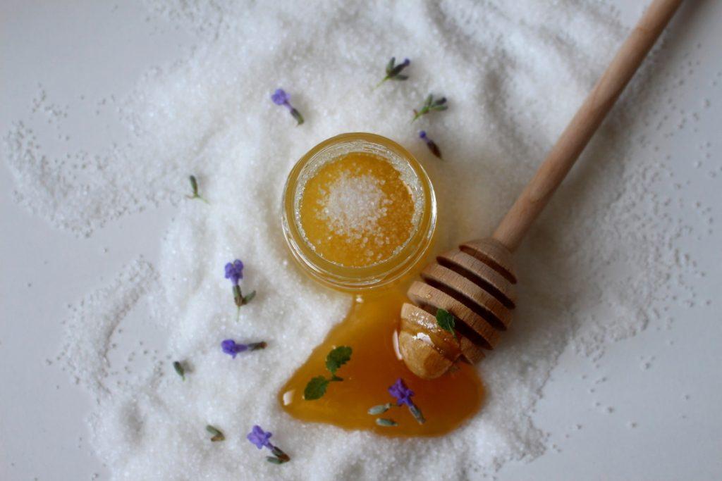 Lavender scrub