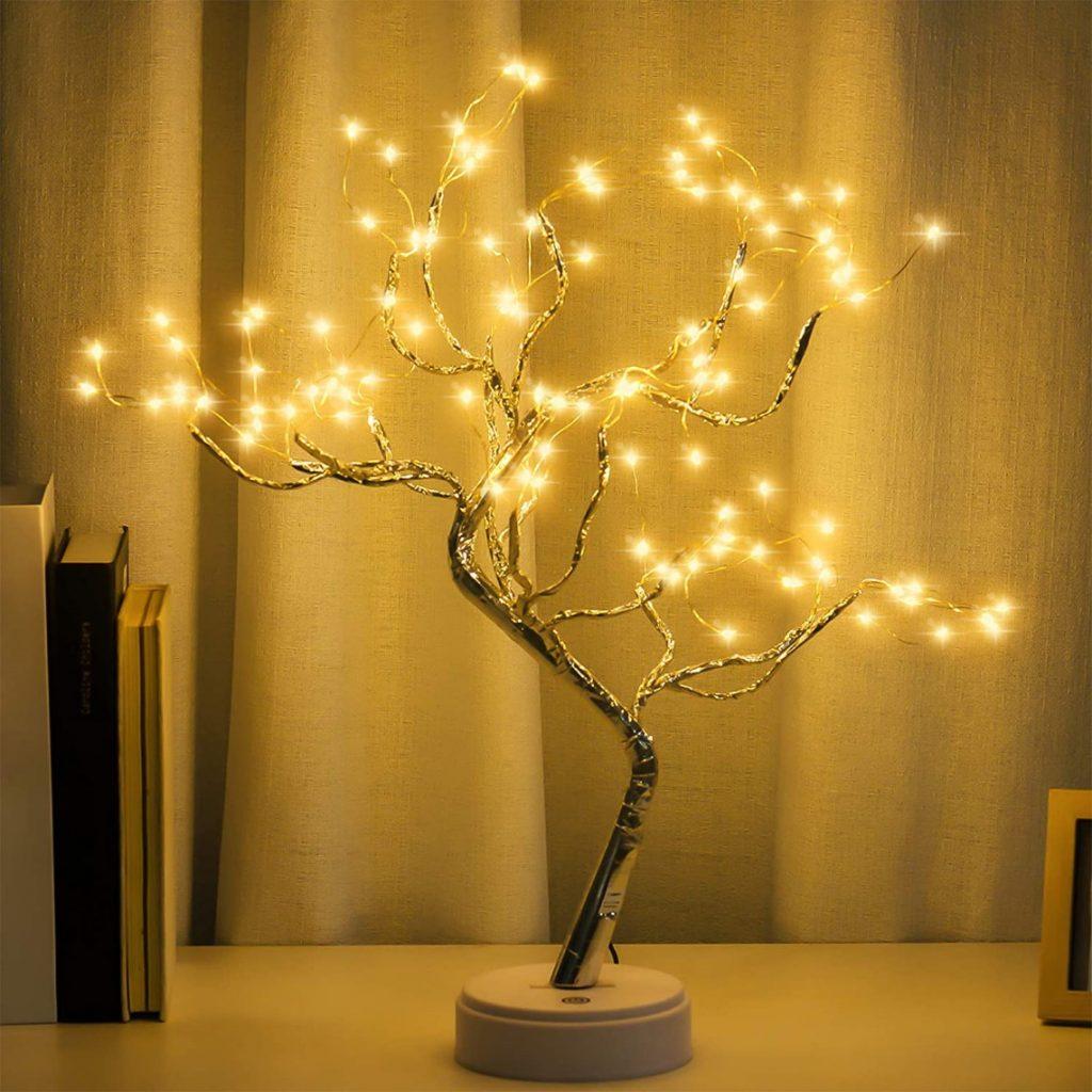 Tabletop Bonsai Tree Light Lamp